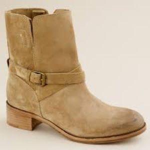 J. Crew Ryder Short Buckle Boots Tan Suede